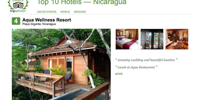 Aqua Wellness Resort makes top 10 resorts in Nicaragua